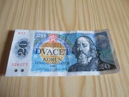 Tchécoslovaquie - Billet 20 Korun 1988. - Tchécoslovaquie