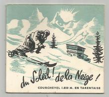 Publicité Pub Hotel Des Tovets Courchevel 73 Savoie Tarentaise Ski Imprimerie Moutiers Carte Double 11,5x12,5 Cm - Publicidad