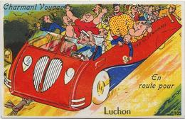 D 31  LUCHON  CARTE à SYSTEME   En Route Pour Luchon - Cartoline Con Meccanismi