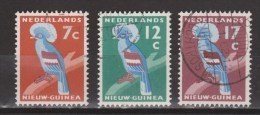 Nederlands Nieuw Guinea Dutch New Guinea 54 - 56 Used ; Kroonduif, Crown Pigeon 1959 - Nederlands Nieuw-Guinea