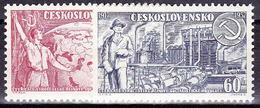 ** Tchécoslovaquie 1957 Mi 1046-7 (Yv 933-4), (MNH) - Unused Stamps