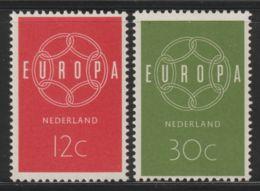 Nederland 1959  NVPH Nr. 727+728  MLH Europa - 1949-1980 (Juliana)