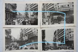 Photox10 LIEGE GENDARME Gendarmerie Rijkswacht Manifestation 1950 Grève Affaire Royale ? - Lieux