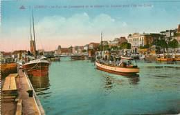 Dép 56 - Bateaux - Lorient - Le Port De Commerce Et Le Départ Du Bateau Pour L'Ile De Groix - 2 Scans - état - Lorient