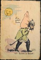 CPA - Militaria > Humoristiques - Illustrateur : REP 1916 - Retour Au Bercail - L'un Portant L'Autre - En L'état - Humoristiques