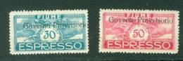 Fiume  Sassone  Express   5 Et 6  *   Voir Scan Et Description - Occupation 1ère Guerre Mondiale