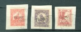 Fiume  Sassone   1A/3  Ob  TB  Sur Petits Fragments - Occupation 1ère Guerre Mondiale
