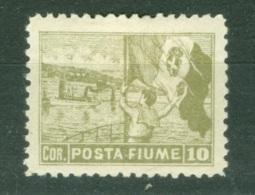 Fiume  Sassone   56 II  *  TB  Dent  10.50 - Fiume