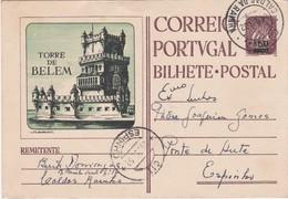 PORTUGAL - BILHETE POSTAL - INTEIRE STATIONERY  - TORRE DE BELÉM - CALDAS DA RAINHA - Postal Stationery
