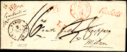 INCOMING MAIL FRANCIA 1829 - Lettera Prefilatelica Da Parigi 2/12/1829 A Milano, Tassa Cassata E Cor... - Lombardo-Vénétie