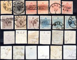 1850 - I Emissione, Carta A Mano (1/12), Usati, Perfetti. Diversi Esemplari Firmati Da Noti Periti.... - Lombardo-Vénétie