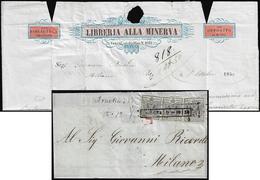 1850 - 10 Cent. Grigio Nero, I Tiratura (2b), Tre Esemplari, Uno Con Bella Varietà Di Clichè, Piega ... - Lombardo-Vénétie