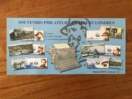 Souvenir Philatélique ALBERT LONDRES Y&T BS17 à 22 - 2007 - Neuf - Souvenir Blocks & Sheetlets