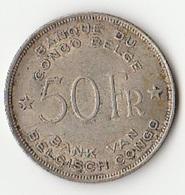 50 F ARGENT CONGO BELGE 1944 - 1934-1945: Leopold III