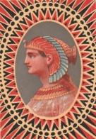 ***  Chromo  ***  Chromo Papier Dos Vierge - EGYPTIEN - Altri