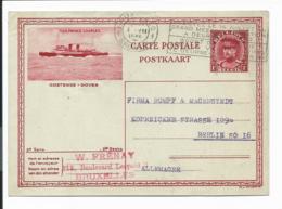 Belgien P 166 Serie 2 - Bild Oostende MS Prince Charles Bedarfsverwendet - Interi Postali