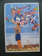 Cpa Scout Scoutisme Jamboree 1947 Timbrée X 2 Et Flamme Amitié Des Jeunes - Scouting