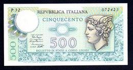 Banconota Italia - 500 Lire Mercurio 2/4/1979 FDS/UNC - [ 2] 1946-… : Repubblica