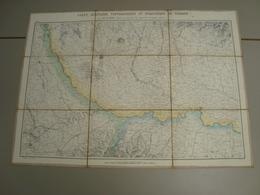 CARTE MILITAIRE TOPOGRAPHIQUE ET STRATEGIQUE DU PIEMONT  SUR TOILE - Topographical Maps