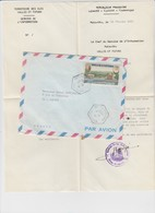 FULL LETTER. WALLIS. SERVICE DE L'INFORMATION. MATA-UTU  TO FRANCE  / 2 - Wallis Y Futuna