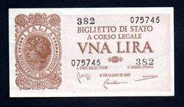 Banconota Italia - 1 Lira Italia Laureata 23/11/1944 FDS/UNC - Italia – 1 Lira