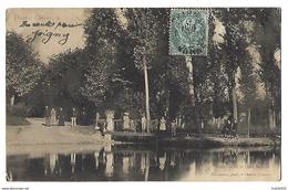 89 - CHARNY - L'abreuvoir Et Le Pont Mercier - Partie De Pêche - 1904 - Timbres-taxe - Charny