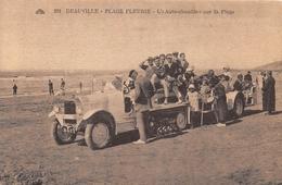 DEAUVILLE - Plage Fleurie - L'Auto-Chenille Sur La Plage - Deauville