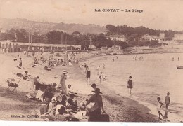 13-LA CIOTAT- LA PLAGE-ANIMEE - La Ciotat