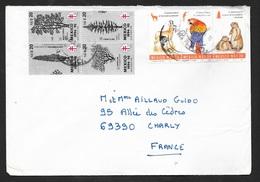 Mexique Lettre Circulée 24/08/1994 De Oaxaca Bande N° 1552 à 1554 Esp Protégées Ara +  Bloc 4 Vignettes A.T  Soldé ! ! ! - Parrots