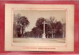 77-PHOTO SUR CARTON FONTAINEBLEAU - FORET DE FONTAINEBLEAU - Fontainebleau