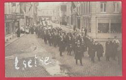 Ciney - Procession De 1910- Mission- Carte Photo -Document Unique ( Voir Verso ) - Ciney