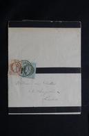 FRANCE - Lettre De Deuil De Hénanbihen Pour Lamballe En 1874, Affranchissement Cérès 1et 2cts  - L 54477 - Marcophilie (Lettres)