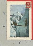 CARTOLINA VG SVIZZERA - Glacier Des Bossons - Traversee D'une Crevasse - 9 X 14 - 1917 - Svizzera