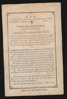 PASTOOR WONTERGEM  JOANNES VAN HULLE - LOTENHULLE 1805   WONTERGEM 1879 - Décès