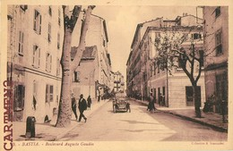 RARE CPA : BASTIA BOULEVARD AUGUSTE GAUDIN ANIME 20 CORSE - Bastia