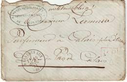 GUERRE DE 70 , Cachet HOPITAL MILITAIRE DE BAREGES Sur Lettre Du 14 Juillet 1871 , Hautes Pyrenees - Poststempel (Briefe)