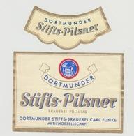 Bieretiket-beerlabel Stifs-brauerei Carl Funke Dortmund (D) - Beer