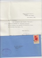 FULL LETTER.  TRINIDAD AND TOBAGO. 1978. OFFICE OF THE PRESIDENT. TRINIDAD TO FRANCE  / 2 - Trinité & Tobago (1962-...)