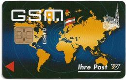 Austria - Mobilkom - Ihre Post, World Map. (Type 1), GSM SIM Full ISO, Used - Austria