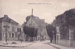 78-CARRIERES-SOUS-BOIS ROUTE DU PECQ-ANIMEE - Carrières-sur-Seine
