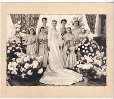 Photos Personnes à Identifiées - Photo De Mariage De La Mariée Avec Les Petites Filles D'honneur - Personnes Anonymes