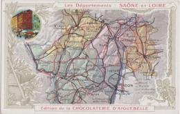 Bx - Cpa Les Départements : SAÔNE Et LOIRE - Edition De La Chocolaterie D'Aiguebelle - Zonder Classificatie
