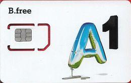 Austria - Mobilkom - B.Free A1 Blue Letter (Type 1), GSM SIM6 Mini-Micro-Nano, Mint - Autriche