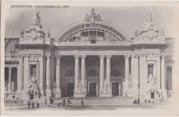 Bx - Cpa PARIS - Exposition Universelle - Grand Palais Façade (circulé En 1900, Cachets De GAND Et PARIS ETRANGER) - Ausstellungen