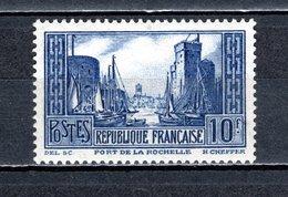 FRANCE  N° 261  NEUF SANS CHARNIERE  COTE 170.00€      PORT DE LA ROCHELLE BATEAUX  MONUMENT - Unused Stamps