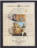 SAN MARINO - 2004 FOGLIETTO DI  3 VALORI VALORI OBLITERATO SU FRAMMENTO - Oblitérés