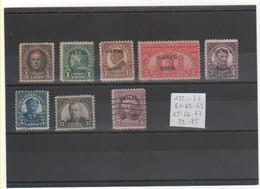 CANAL ZONE 1924-26 YT N° Entre 61 Et 85 Oblitérés Et Neufs* - Panama