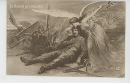 """GUERRE 1914-18 - Jolie Carte Fantaisie Femme Ange Et Aviateur Blessé """"LE BAISER DE LA GLOIRE """" - War 1914-18"""
