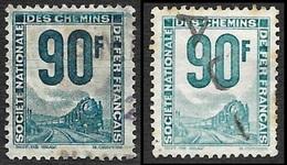 PETITS COLIS  1944-47 - YT 20 (cote 29e) Et YT 21 (cote 2.50e) - Oblitérés - Spoorwegzegels