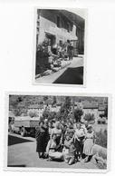 48  LOZERE   2 PHOTOS DE PONT DE MONTVERT ANIMEES  HOTEL DES CIMES  CAMION  BON ETAT - France